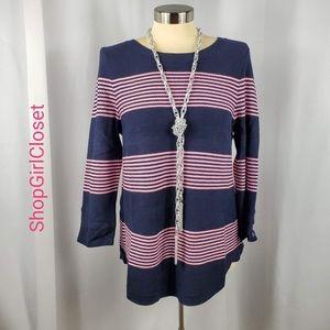 🆕️ Talbots 3/4 Sleeve Sweater - Pink & Black